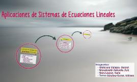 Aplicaciones de las Ecuaciones Lineales