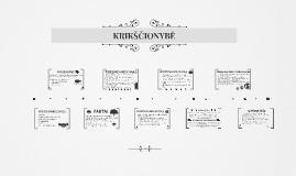 Copy of KRIKŠČIONYBĖ