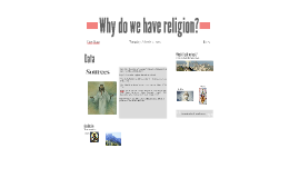 Why do we have religion?
