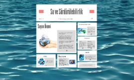 Suyun Sürdürülebilirliği