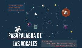 PASAPALABRA DE LAS VOCALES
