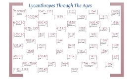 Lycanthrope Timeline