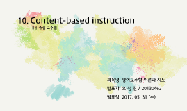 10. Content-based instruction