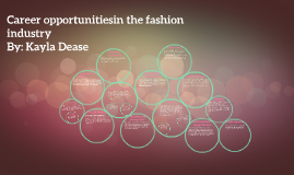 Career opportunitiesin the fashion industry