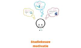 Studiekeuze motivatie presentatie