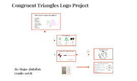 Congruent Triangles Logo Project