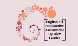 English 3U Summative Assesment
