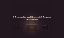 3 Common Bacterial Diseases & 3 Common Viral Diseases