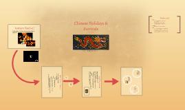 Chinese Holidays & Festivals