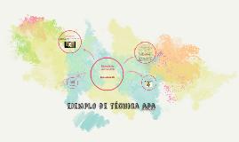 Ejemplo de técnica APA