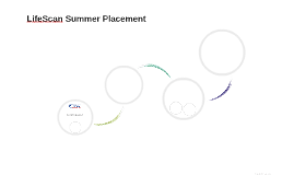 LifeScan Summer Placement