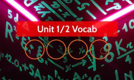 Unit 1/2 Vocab