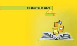 Les stratégies en lecture