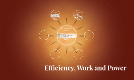 Efficiency, Work and Power