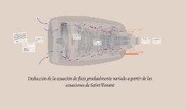 Deducción de la ecuación de flujo gradualmente variado a partir de las ecuaciones de Saint Venant