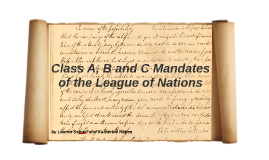 Copy of Class A, B, and C Mandates