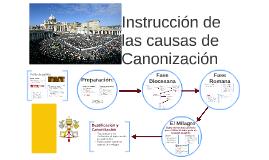 Instrucción de las causas de Canonización