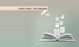 Author Study- Rick Riordan