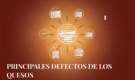 PRINCIPALES DEFECTOS DE LOS QUESOS