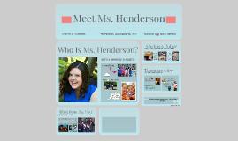 Meet Ms. Henderson