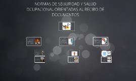 Copy of NORMAS DE SEGURIDAD Y SALUD OCUPACIONAL ORIENTADAS AL RECIBO