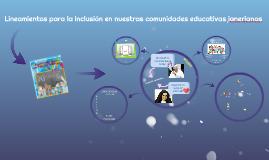 Copia de Lineamientos para la inclusión en nuestras comunidades educa