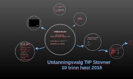 Utdanningsvalg TIP Stovner 10. klasse høst 2018