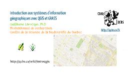 Introduction aux systèmes d'information géographique avec QGIS