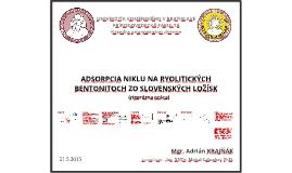 Adsorpcia niklu na ryolityckých bentonitoch zo slovenských ložísk