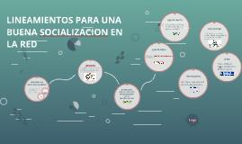 LINEAMIENTOS PARA UNA BUENA SOCIALIZACION EN LA REDv