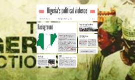 Nigeria's political violence