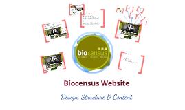 Biocensus Website