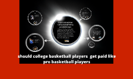 should college basketball players get paid like pro basketball players