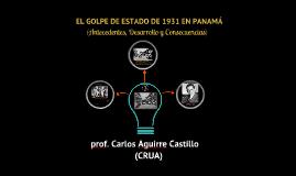 EL GOLPE DE ESTADO DE 1931 EN PANAMÁ