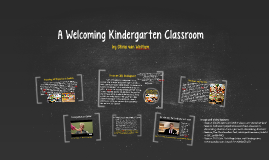 A Welcoming Kindergarten Classroom