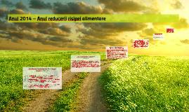 Anul 2014 – Anul reducerii risipei alimentare