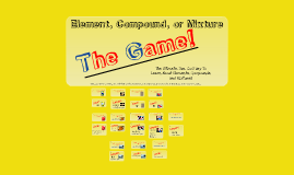 Copy of Element, Compound, Mixture - The Game
