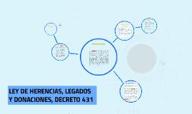 Copy of LEY DE HERENCIAS, LEGADOS Y DONACIONES, DECRETO 431