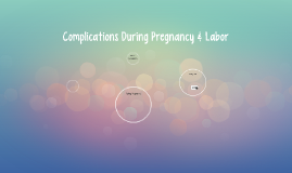 Complications During Pregnancy & Labor