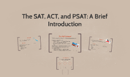The SAT, ACT, and PSAT: A Brief Introduction