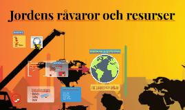 Jordens råvaror och resurser