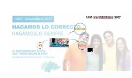 CADE UNIVERSITARIO 2017