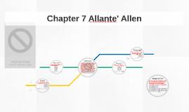 Chapter 7 Allante'