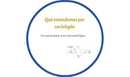 Qué entendemos por sociología