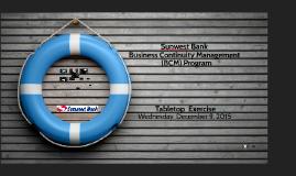Sunwest Bank Business Continuity Management (BCM) Program