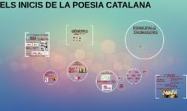 ELS INICIS DE LA POESIA CATALANA