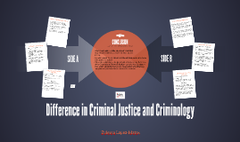 Difference in Criminal Justice and Criminology