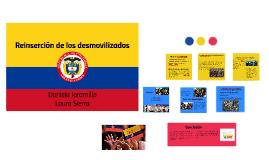 reinsercion de los desmovilizados en colombia