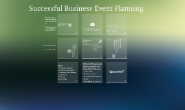Successful Business Event Planning
