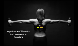 Muscular And Neuromotor Exercises